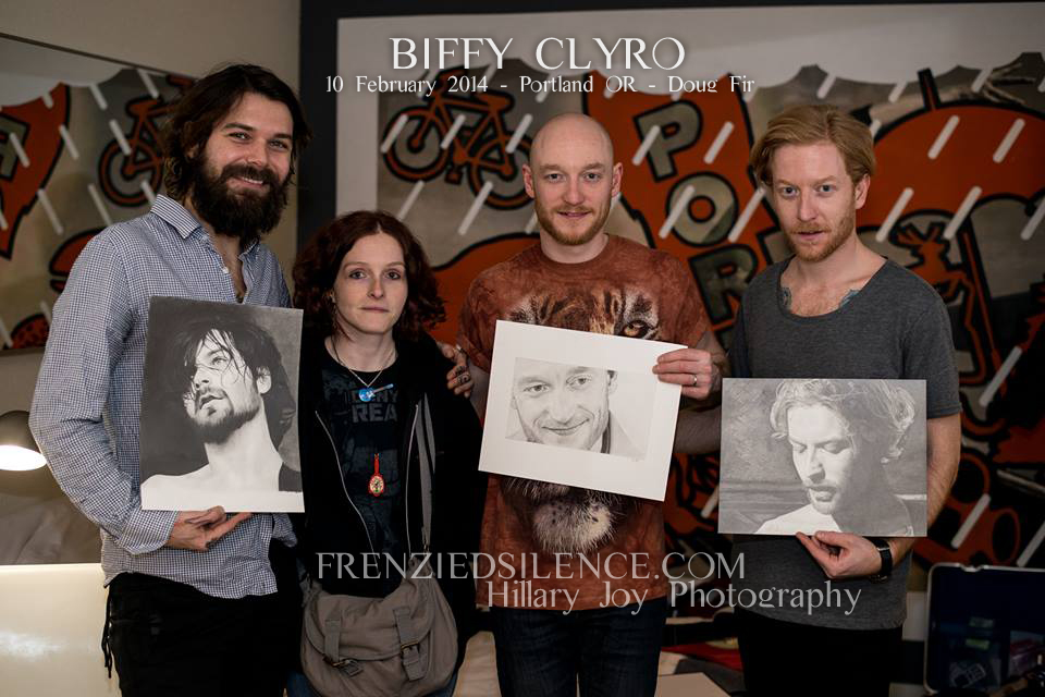 Biffy Clyro portraits